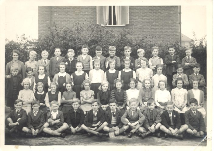 The last of Jean West's photos taken in 1941/2.  Jean is in the second row, fourth from the right.  The teacher is Miss Harradine.