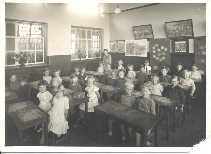 This photo from Jean West (nee Birchall) was taken in 1937.  Jean is sitting in the front row table to the left of the photo. Jean is on the right and her best friend Doreen Smith is sitting on her left.