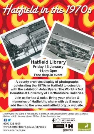 Event poster for Hatfield in the 1970s