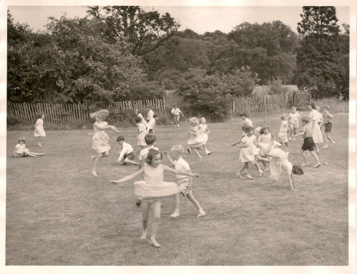 Playing in the school grounds 1970s