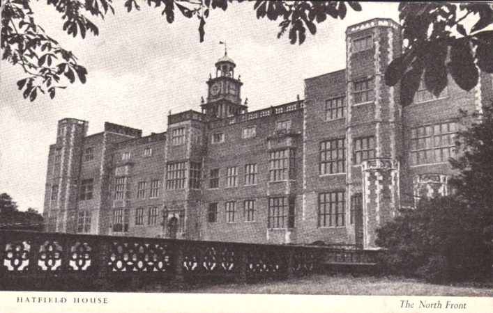 The North Front of Hatfield House is one of the finest examples of Tudor domestic architecture to be found anywhere in England. The bricks were taken from the Old Palace which dates back to 1497.