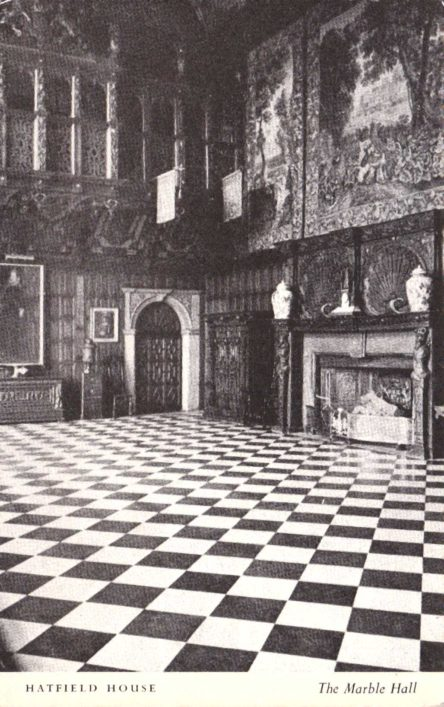 The large portrait at the end of the Hall is one of the last portraits of Mary Queen of Scots to be painted before her death. The flags hanging from the 17th century Minstrels' Gallery are Napoleonic Eagles captured after the Battle of Waterloo. The room also contains two contemporary portraits of Queen Elizabeth.