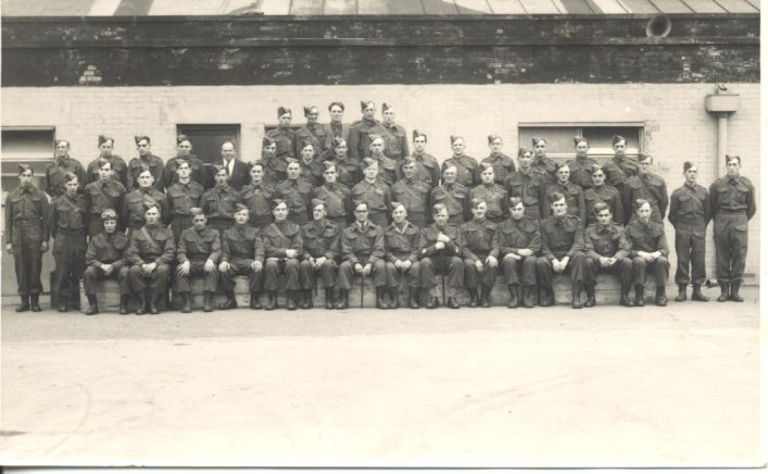 Another of Jean Wests's photos of the 13th Battalion de Havilland Home Guard.  By the end of 1942  the 13th battalion headquarters at de Havillands had control over Companies A, B,C & D, there was also an additional Light Anti-aircraft battery based at the factory.