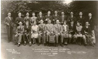 St Audrey's Evening School Orchestra (1930), Sydney Rumbelow seated fourth from left | Brian Lawrence
