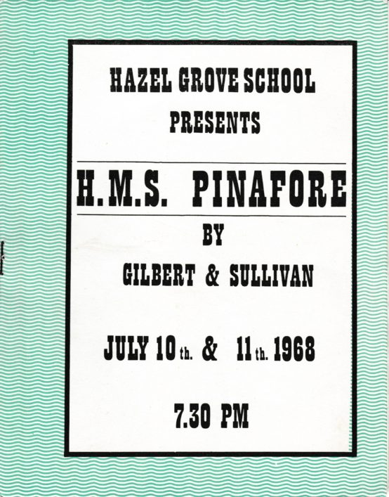 HMS Pinafore Programme | Sue Walker