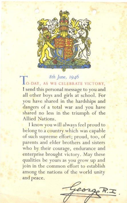 Irene's WW2 Certificate