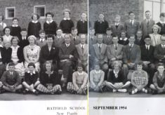 Hatfield School  Panoramic photos and lists of Pupils and Staff. 1953-1978