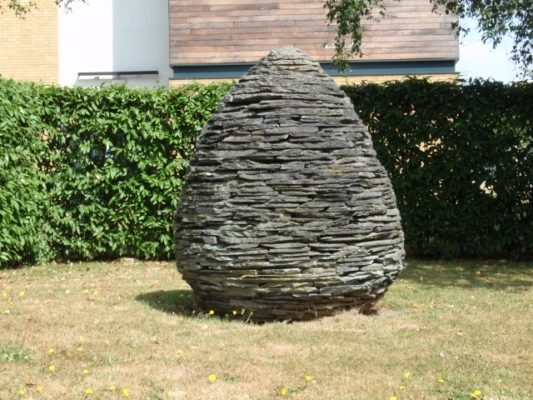 Andy Goldsworthy, 'Cone', 2001. Location - opposite the Art and Design Gallery Goldsworthy, (born 26 July 1956) is a British sculptor, photographer  and environmentalist producing site-specific sculpture and land art situated in natural and urban settings. He exhibited in our St Alban's gallery (Margaret Harvey Gallery) in 1996 and was also a Research Fellow at the university. | Christine Martindale