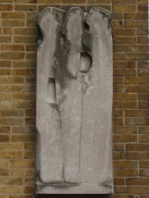 Barbara Hepworth, 'Vertical Form', 1951 Location - End wall of main building. Hepworth (10 January 1903 – 20 May 1975) was an English sculptor. Her work exemplifies Modernism and with such contemporaries as Ivon Hitchens, Henry Moore, Ben Nicholson, Naum Gabo she helped to develop modern art (sculpture in particular) in Britain. | Derek Martindale