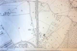 1937 OS Map showing Wrestler's Bridge across the railway | Hertfordshire Archives and Local Studies