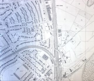 1962 OS Map TL 2309 25 inches to 1 mile. Showing the Birchwood Estate and the Bridge across the railway | Hertfordshire Archives and Loca Studies