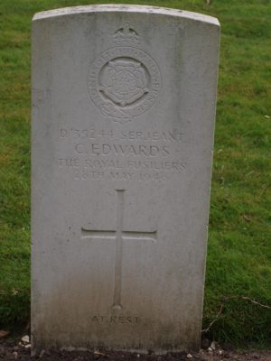 D/35244 Serjeant C. Edwards The Royal Fusiliers 28 May 1946