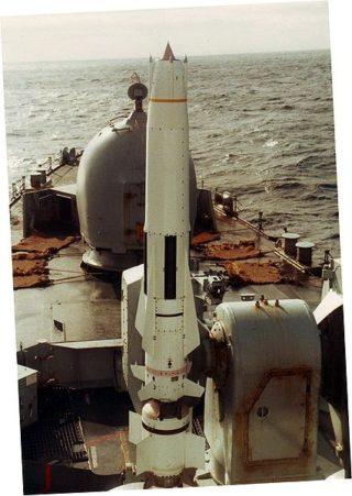 Sea Dart on launcher