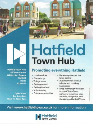 The Hub aims to promote everything Hatfield as can be seen from the poster. | Derek Martindale