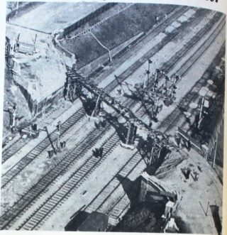 Aerial Photo of the bridge | Appeared in the Welwyn Times and Hatfield Herald 1 April 1966 taken by Fred Halsey, from a tiger moth piloted by Ken Green, motor cycle dealer