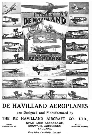 1921 Advert - the de Havilland range of aircraft | Aviation Ancestry