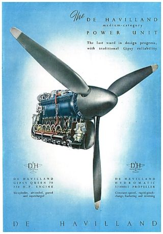 1946 Advert - de Havilland Gipsy Queen Engine | Aviation Ancestry