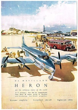 1950 Advert - de Havilland DH 114 Heron air liner | Aviation Ancestry