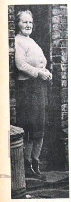 Miss Mary Stokes, one of the last to leave Chapmans Yard, Hatfield, where a redevelopment scheme is calling for the demolition of the entire street | Welwyn Times and Hatfield Herald 19 November 1965 page 52