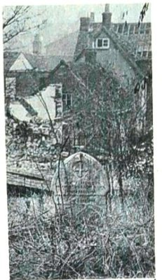One of the 14 family graves which will soon be dug up and resited after nearly 100years. | Welwyn Times and Hatfield Herald, 19 November 1965 page 52