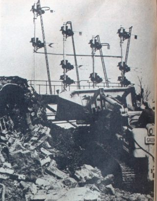 Clearing the rubble from the main line at Hatfield | Welwyn Times and Hatfield Herald, 25 February 1966, page 1