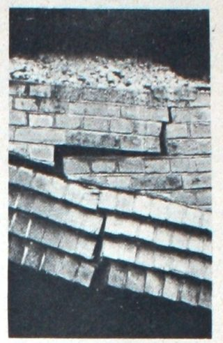 One of the cracks in the brickwork | Welwyn Times and Hatfield Herald, 25 February 1966, psge 43
