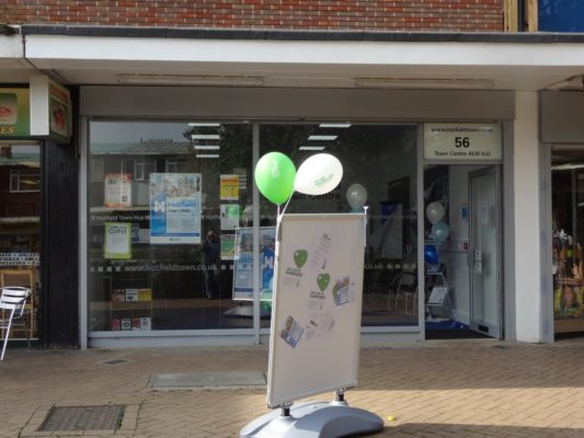 The Hatfield Town Hub was officially opened on Friday 27th September 2013 by Councilor Tony Kingsbury at 56 White lion Square Hatfield Town Centre. | Derek Martindale