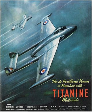 1951 Advert - de Havilland DH 112 Venom Jet Fighter | Aviation Ancestry