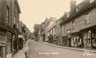 The shop in Fore Street c. 1930 now owned by Mr H. Godfrey.