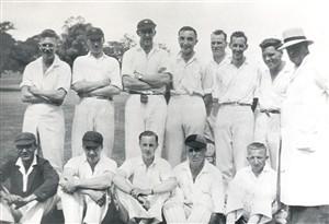 Members of the Hatfield Hyde Cricket Club in 1938   Welwyn Garden City Library
