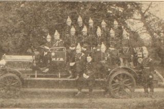 Hatfield Fire Engine and Crew | E.W. Kentish, The Studio Hatfield
