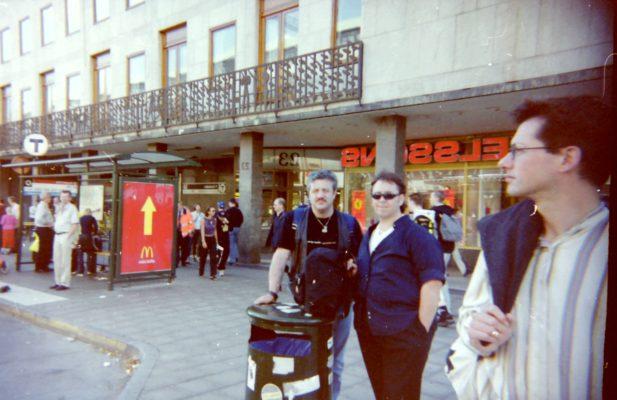 Vic & Kev Hobbs in Stockholm 1982