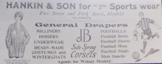 Advert showing Hankin & Son at both Fore St & Park St.