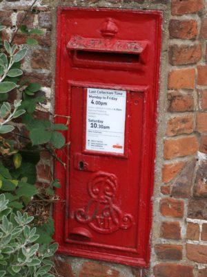 Edward V11 post box in the GateHouse wall, Fore Street  | Jean Cross