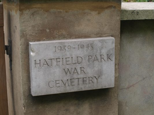 27) Along the A1000 to the south can be found the Hatfield War Cemetery where servicemen who died in WWII are buried  | Jean Cross