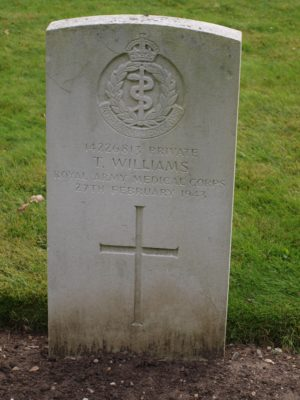14226813 Private T Williams Royal Army Medical Corps 27 February 1943 | Jean Cross