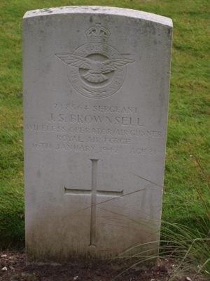 748564 Sergeant J. S. Brownsell Wireless Officer/Air Gunner RAF 16 January 1942  Age 21 | Jean Cross