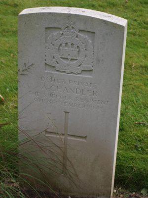 D/41113 Private A. Chandler The Suffolk Regiment 9 September 1941 | Jean Cross