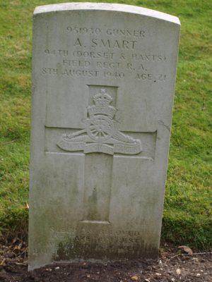 951930 Gunner A. Smart 94th (Dorset & Hants) Field Regiment RA 8 August 1940 Age 21