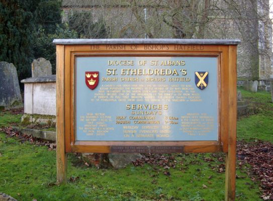 ST. Etheldreda's notice board | Peter Massingham
