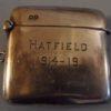 The Silver Match Box WW1 Souvenir