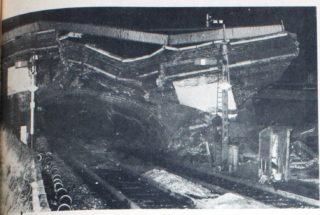 The collapsed Wrestler's Bridge, Hatfield | Welwyn Times and Hatfield Herald, 25 February 1966, page 43