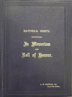 Hatfield In Memorium & Roll of Honour Album