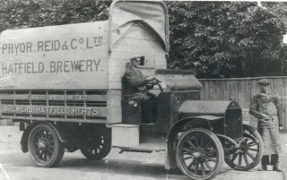 Pryor, Reid and Co transport, the Hatfield Brewery, date unknown | Local Studies Image Collection
