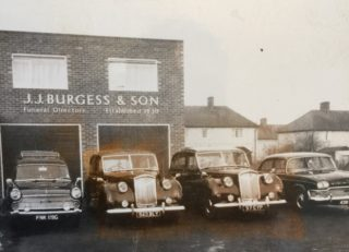Early photo of the new premises on The Common, Hatfield Town Centre. | J. Burgess
