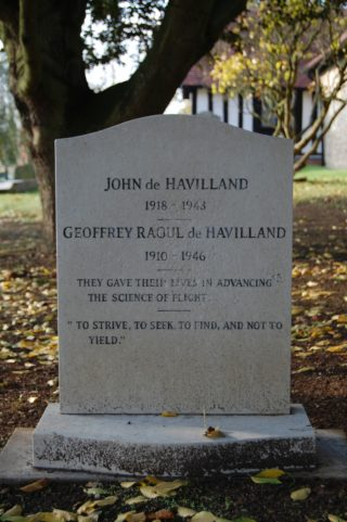 John and Geoffrey de Haviland's grave in Tewin Churchyard | Susan Hall