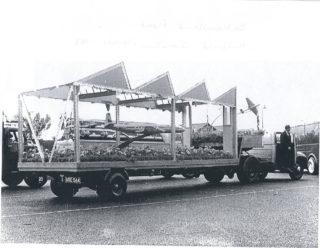 De Havilland float at the coronation celebrations | Hatfield Library local studies collection