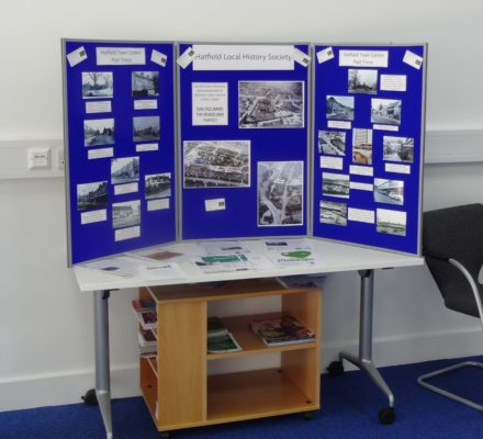 Hatfield Local History Society display of old Hatfield photos at the launch. | Derek Martindale