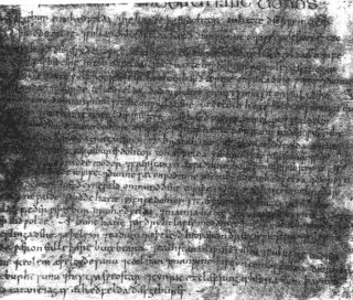 The fragment of manuscript from Ely describing the serfs of Hatfield, their jobs and marriages, beginning