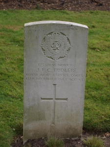 T/330106 Driver J. F. C. Budler Royal Army Service Corps December 1943 Age 43 | Jean Cross